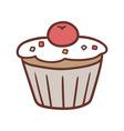 mini cake vector image