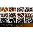 giraffe pattern backgrounds vector image vector image