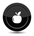 Button with apple vector image