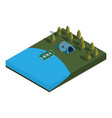 camping isometric view vector image