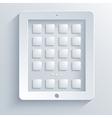 concept computer tablet on light blue background vector image