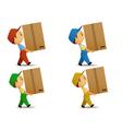 Delivery boy vector image