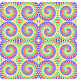 Design seamless colorful spiral movement pattern vector image