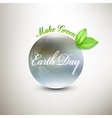 Earth Day background with the words blurred vector image