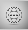 go to web icon www icon world wide web symbol vector image