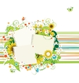 Summer frames with sunflowers insert your photos vector image vector image
