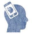 smartphone head plugin recursion fabric textured vector image