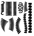 Set of Springs Silhouettes vector image