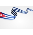 Cuban flag background vector image vector image