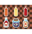 Sticker series breakfast spreads vector image