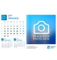 Desk Calendar for 2017 Year Design Print Template vector image