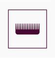 comb icon simple barbershop vector image
