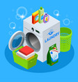 isometric laundry service vector image