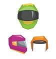 Motorbike classic helmets vector image