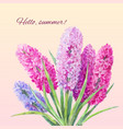 watercolor bouquet of hyacinths vector image