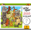 counting activity with dogs vector image vector image
