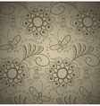 Decorative floral background seamless vector image vector image