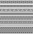 Old greek border designs vector image vector image
