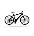 bicycle icon bike isolated on white vector image