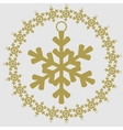 Christmas and New Year icon Snowflake vector image