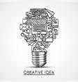 creative idea of sketch collage icons vector image