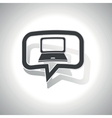 Curved laptop message icon vector image