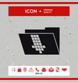 folder down arrow icon vector image