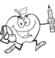 Fun apple activity drawings vector image