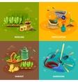 Gardening 2x2 Design Concept vector image
