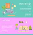 home design and hallroom on vector image