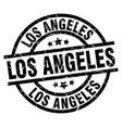 los angeles black round grunge stamp vector image
