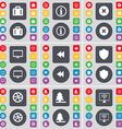 Suitcase Information Stop Monitor Rewind Badge vector image
