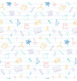 welcome back to school doodles seamless pattern vector image