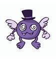 Fly monster cartoon for kids vector image