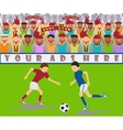 a soccer match vector image
