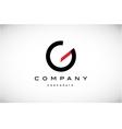 Alphabet letter G simple logo icon design vector image