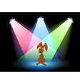 A rabbit show on stage vector image