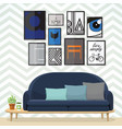 art for living room vector image