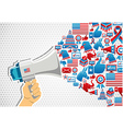 US elections politics message promotion vector image