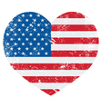 United States on America retro heart flag - vector image vector image