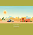 Agriculture with organic products and farmhouse vector image