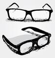 glasses transparent vector image