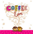 love between coffee and tea vector image