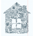 floral house vector image vector image