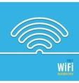 WiFi icon on blue background vector image