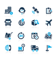 Shipping and Tracking Icons Azure vector image