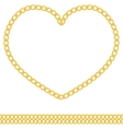 jewelry golden chain of heart shape vector image