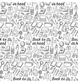 Back to school doodle seamless pattern vector image