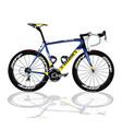 black amp blue bicycle vector image