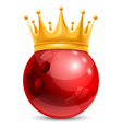 Bowling ball in crown vector image